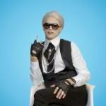 Meet Darl, Ashton Kutcher's Karl Lagerfeld spoof character