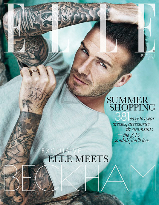 David Beckham's Elle UK July cover is here!