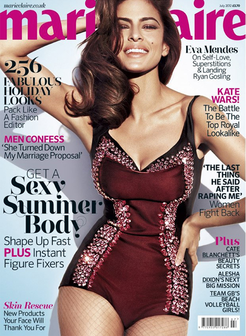 Eva Mendes is Marie Claire UK's July cover star