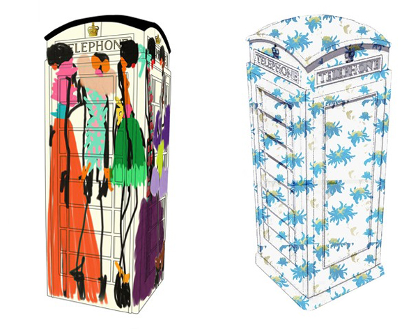 Giles Deacon and Julien Macdonald revamp the iconic British phone box for charity