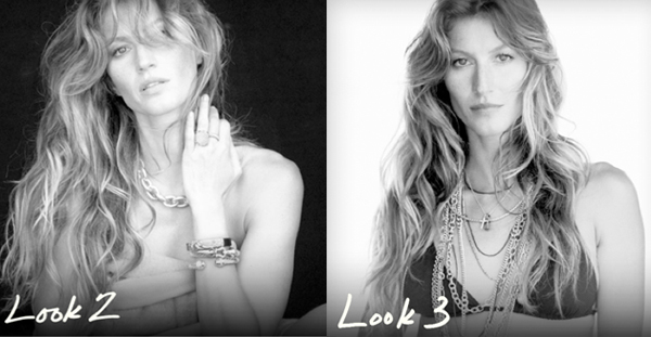 Gisele poses for the new David Yurman ad campaign!