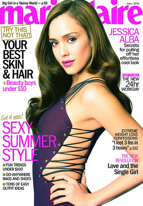 Jessica Alba in Versus for Marie Claire US June