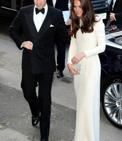 Kate Middleton dares to bare in stunning cream Roland Mouret and sparkly Jimmy Choos