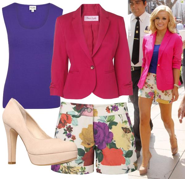 Get Katherine Jenkins' floral summer style