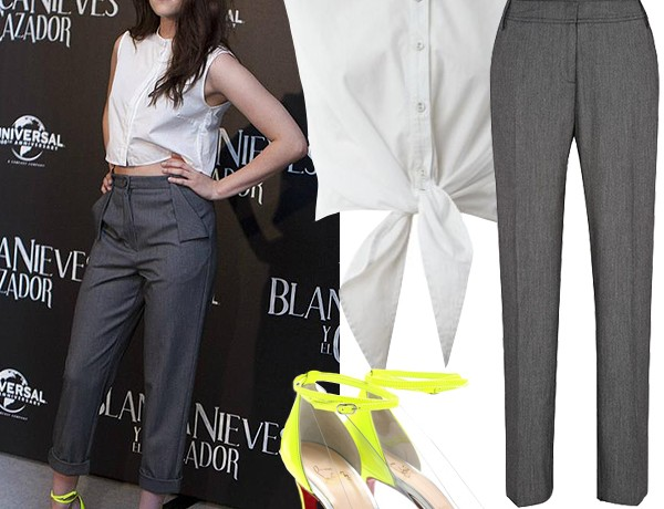Get Kristen Stewart's tailored neon look