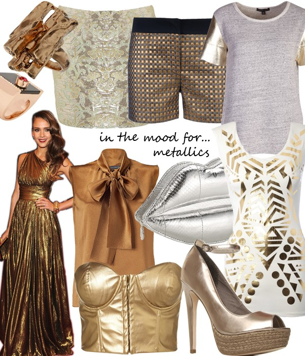 Midweek Moodboard: Mad for metallics