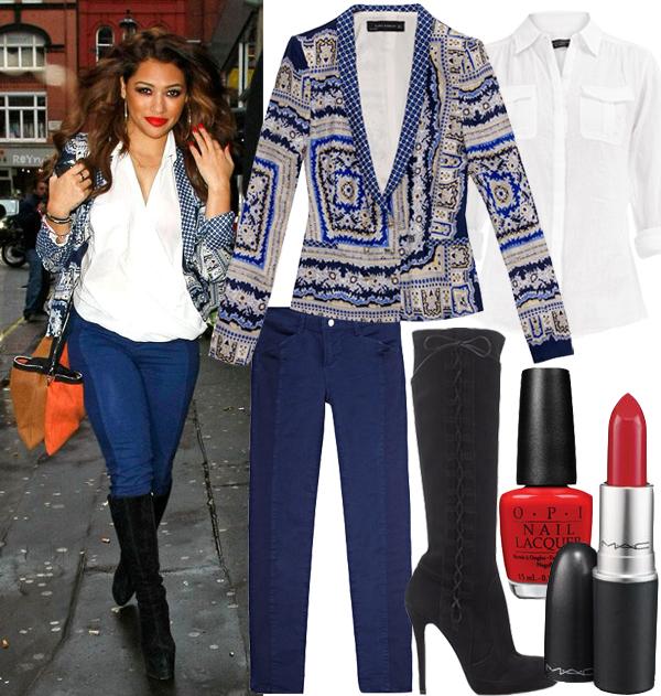 Get Vanessa White's bold, chic Zara look