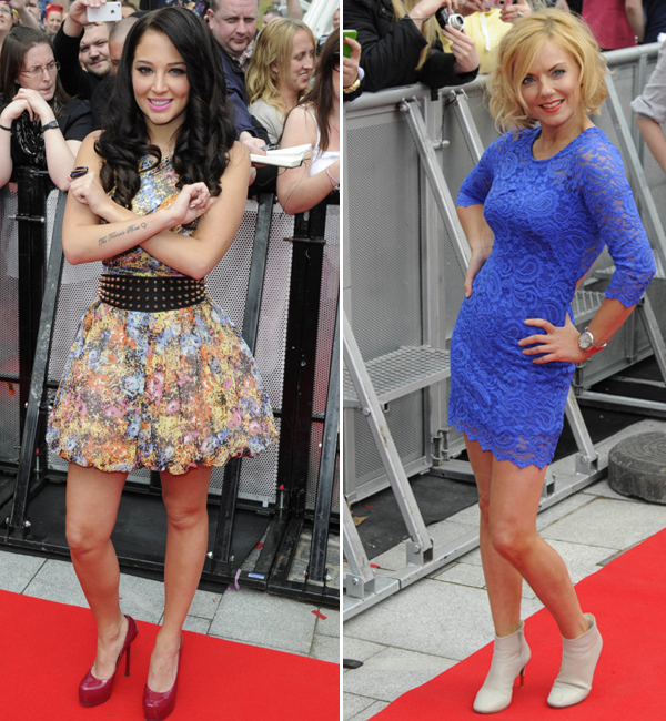 Tulisa and Geri Halliwell rock mini dresses for the first day of X Factor 2012 auditions!