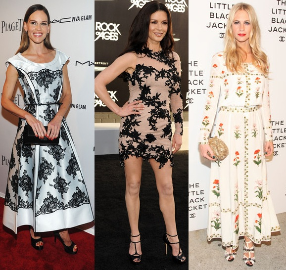 Rate or Slate Hilary Swank, Catherine Zeta-Jones and Poppy Delevingne's style efforts?