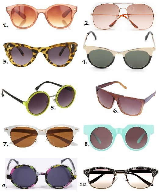 10 snap-up-now sunglasses under £20!