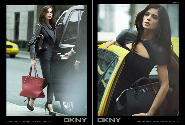 First look: Ashley Greene's DKNY ad campaign for autumn/winter 2012