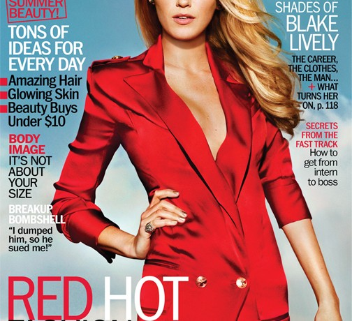 Blake Lively rocks red-hot Balmain on Marie Claire US's July cover