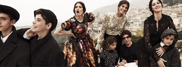 Dolce and Gabbana sticks with the Italian family theme for its new season campaign