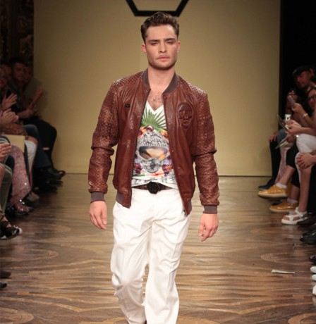 Chuck Bass is now a model!