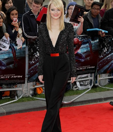 Emma Stone wows in Elie Saab for The Amazing Spider-Man London premiere