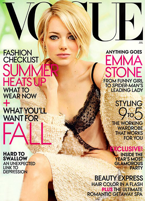 Emma Stone covers American Vogue's July issue in Nina Ricci