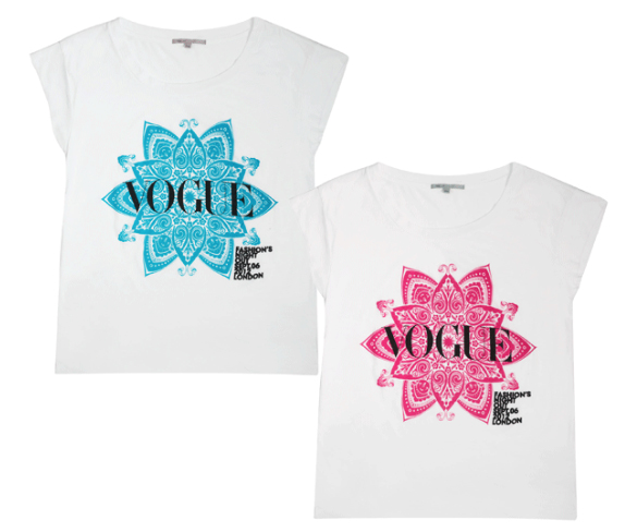 Peek the t-shirts Jonathan Saunders designed for Fashion's Night Out 2012