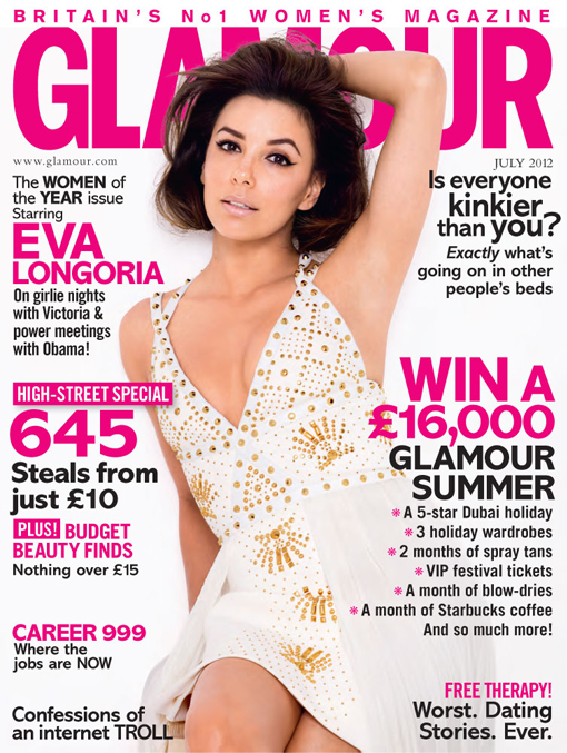 Glamour's 'women of the year' Eva Longoria, Kylie Minogue and Fearne Cotton cover its July issue