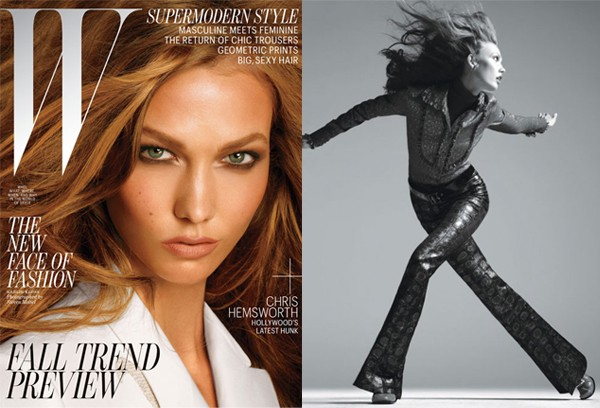 Joan Smalls and Karlie Kloss are golden girls for W's July issue