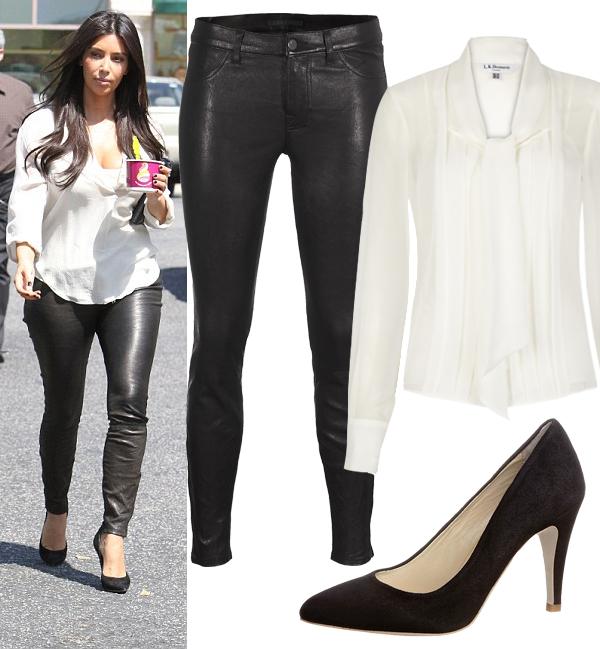Get Kim Kardashian's monochrome look