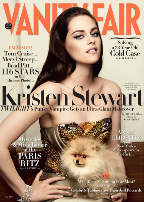Kristen Stewart almost unrecognisable on Vanity Fair's July cover