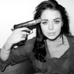 Terry Richardson photographs Lindsay Lohan with a gun to her head