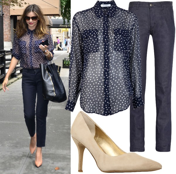 Get Miranda Kerr's sheer, starry look