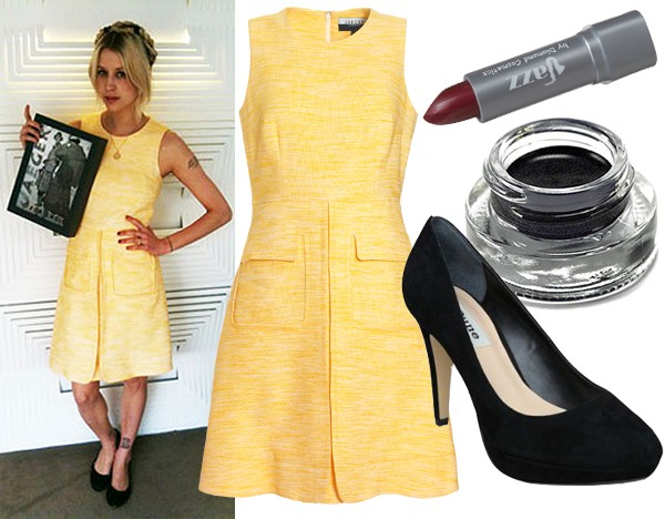 Get Peaches Geldof's sunshine yellow look