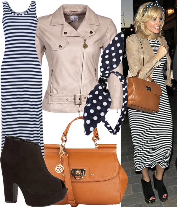Get Pixie Lott's nautical/polka dot look