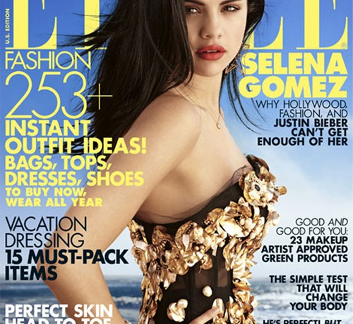 Selena Gomez looks divine in Dolce and Gabbana for Elle US newsstand cover