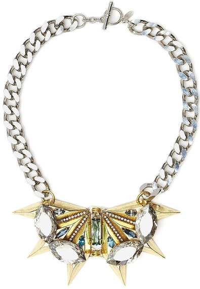 Buy of the Week: Anton Heunis Gold Spike and Crystal Chain Necklace