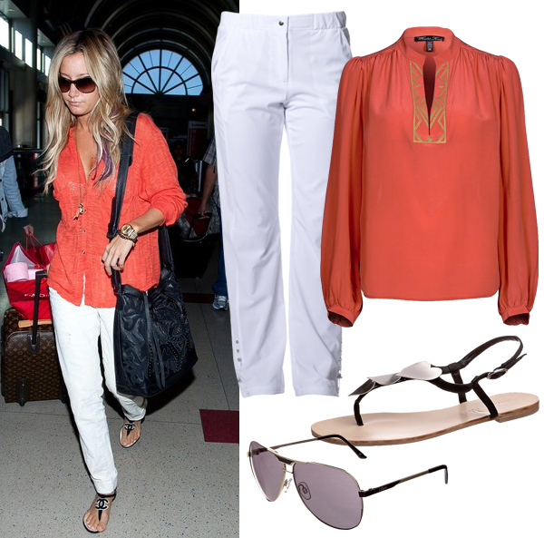 Get Ashley Tisdale's casual airport look