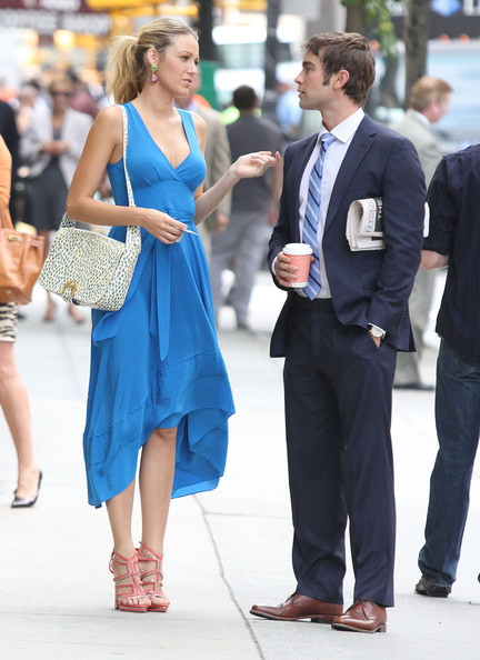 Blake Lively is beautiful in blue Marc by Marc Jacobs for Gossip Girl