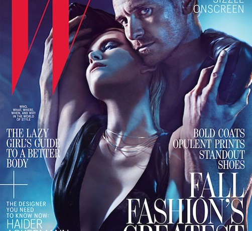 Charlize Theron and Michael Fassbender get steamy for W