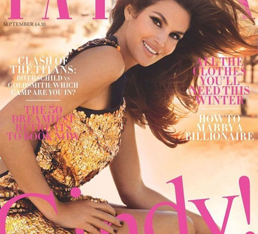 Tatler taps Cindy Crawford for its all-important September issue