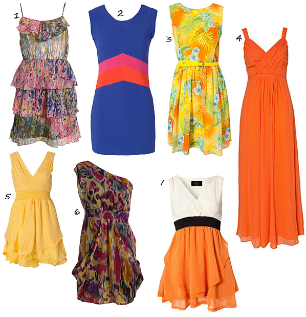 7 chic vibrant summer dresses