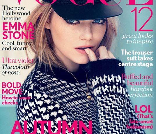 Emma Stone gets her British Vogue debut for August