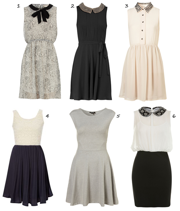 6 monochrome Graduation-ready dresses