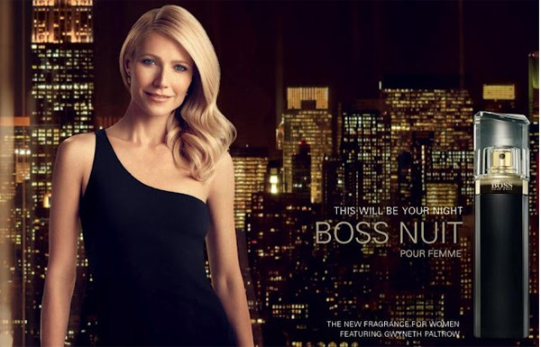 Gwyneth Paltrow looks sultry, sophisticated and sexy for Hugo Boss Nuit