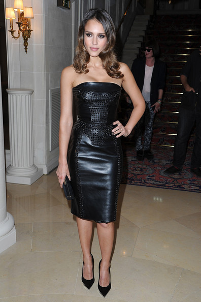 Jessica Alba stuns in Versace at Versace