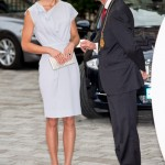 Kate Middleton looks resplendent in recycled grey Roksanda Ilincic