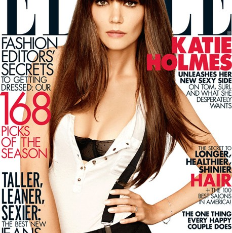 Katie Holmes looks fierce on Elle US's August cover