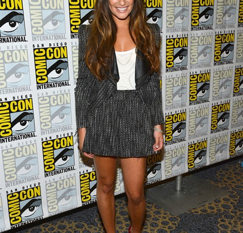 Lea Michele stuns in Stella & Jamie at Comic Con 2012