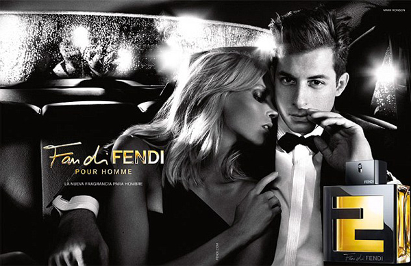 Mark Ronson and Anja Rubik get cosy for Fendi