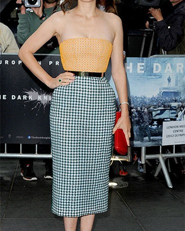 Marion Cotillard wore Dior Couture for The Dark Knight Rises London premiere