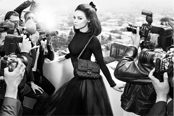 Mila Kunis is back for Miss Dior handbags