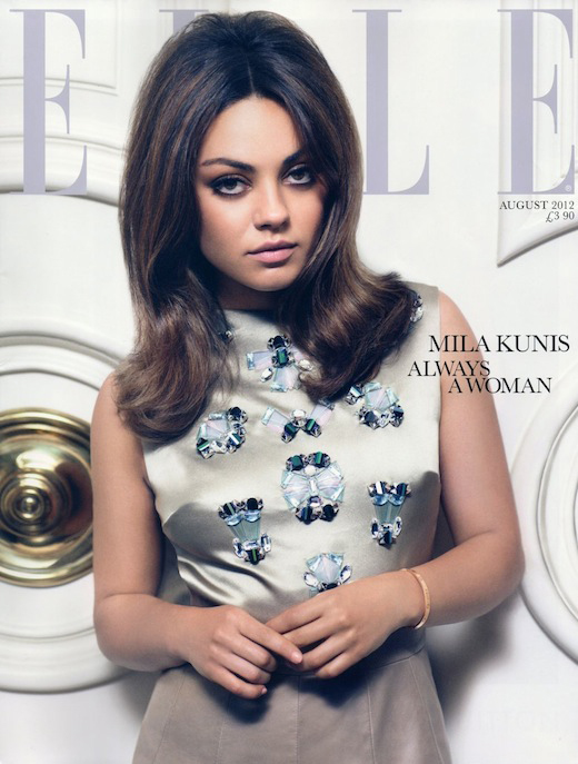 Mila Kunis channels 60s chic on Elle UK's August issue