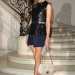 Olivia Palermo's legs go on forever at the Christian Dior Couture show