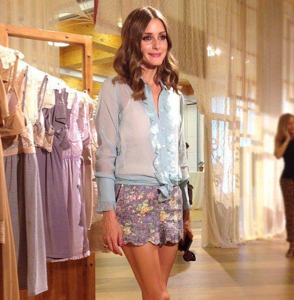 Olivia Palermo rocks powder blue Intimissimi