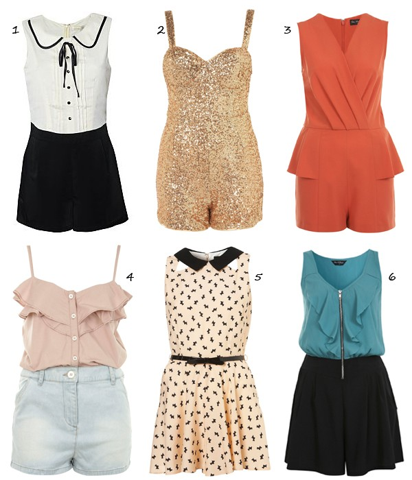 6 perfect, pretty high street playsuits!